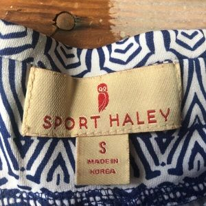 Sport Haley Shorts - Sport Haley Size Small White and Blue Golf Skort